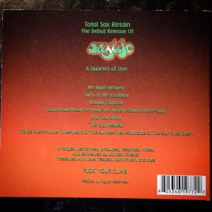 Back of the CD