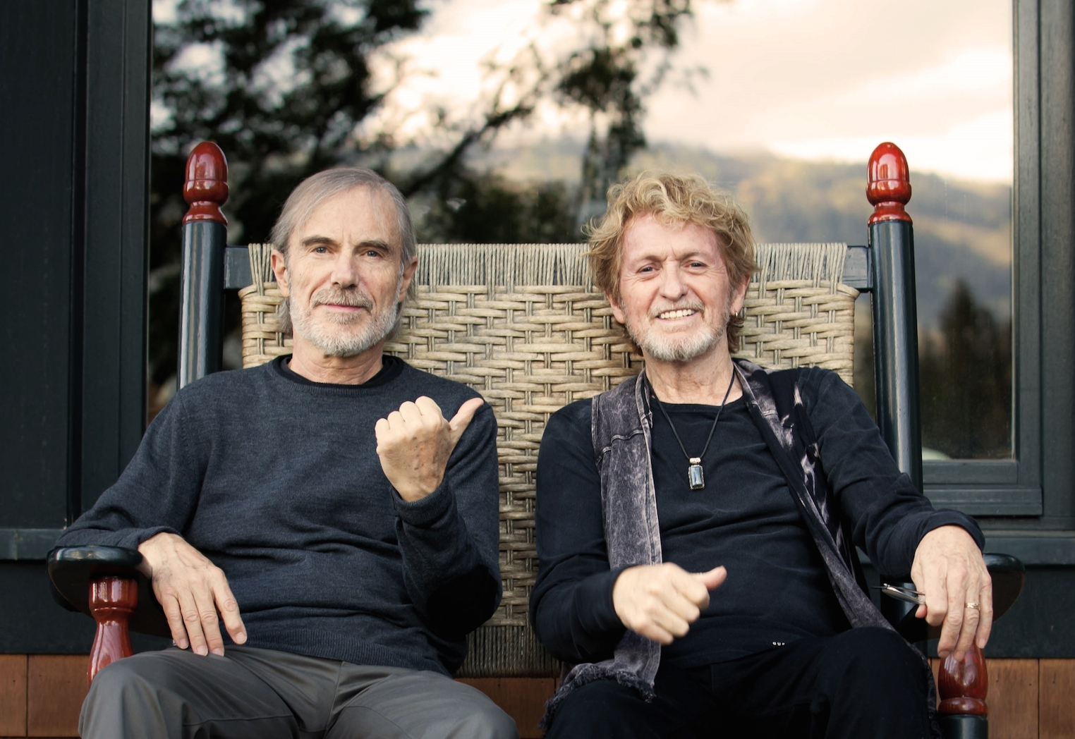 Jon Anderson and Jean Luc Ponty press 1 Cathy Miller lo res