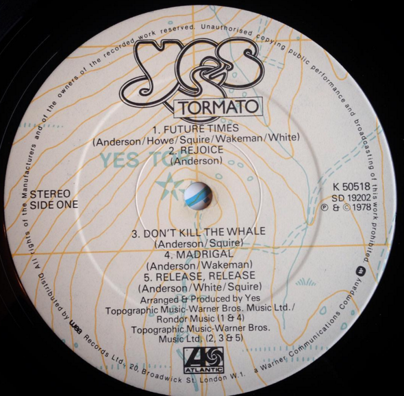 Yes Singles Part 9 – Tormato – 324
