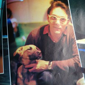 Trevor Horn and his dog