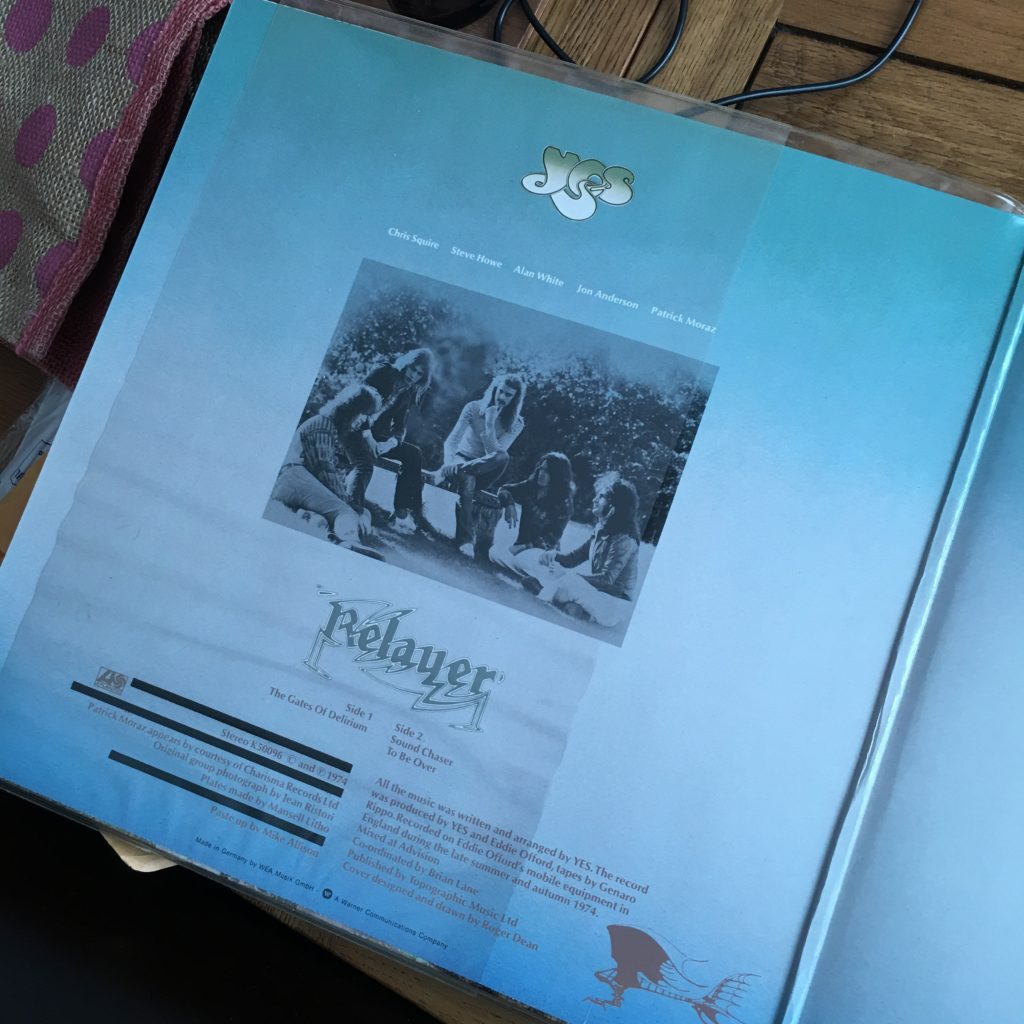 Relayer inside cover