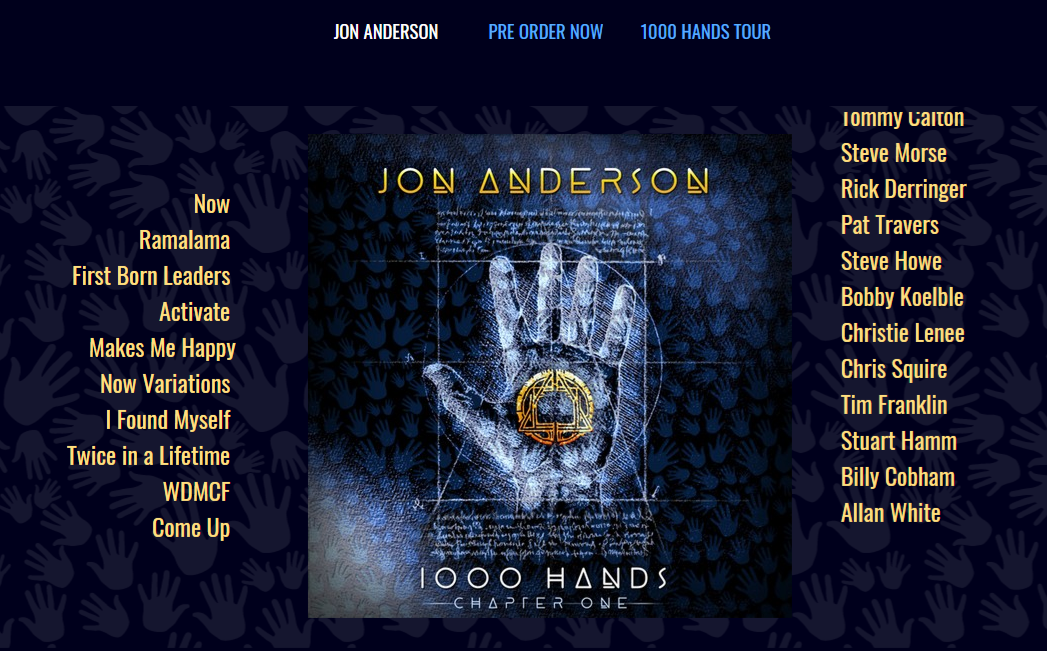Jon Anderson's 1000 Hands Part 1 – first listen – 374